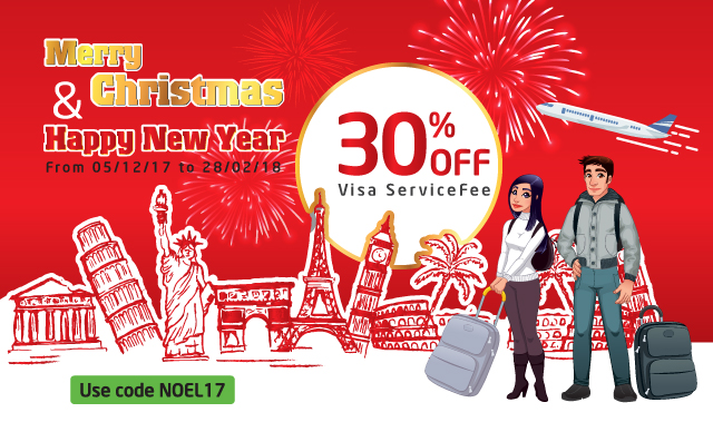 Noel & New year Discount-Visa processing-2017